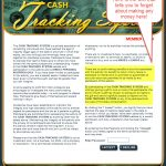 Cash Tracking System Review of no earnings here